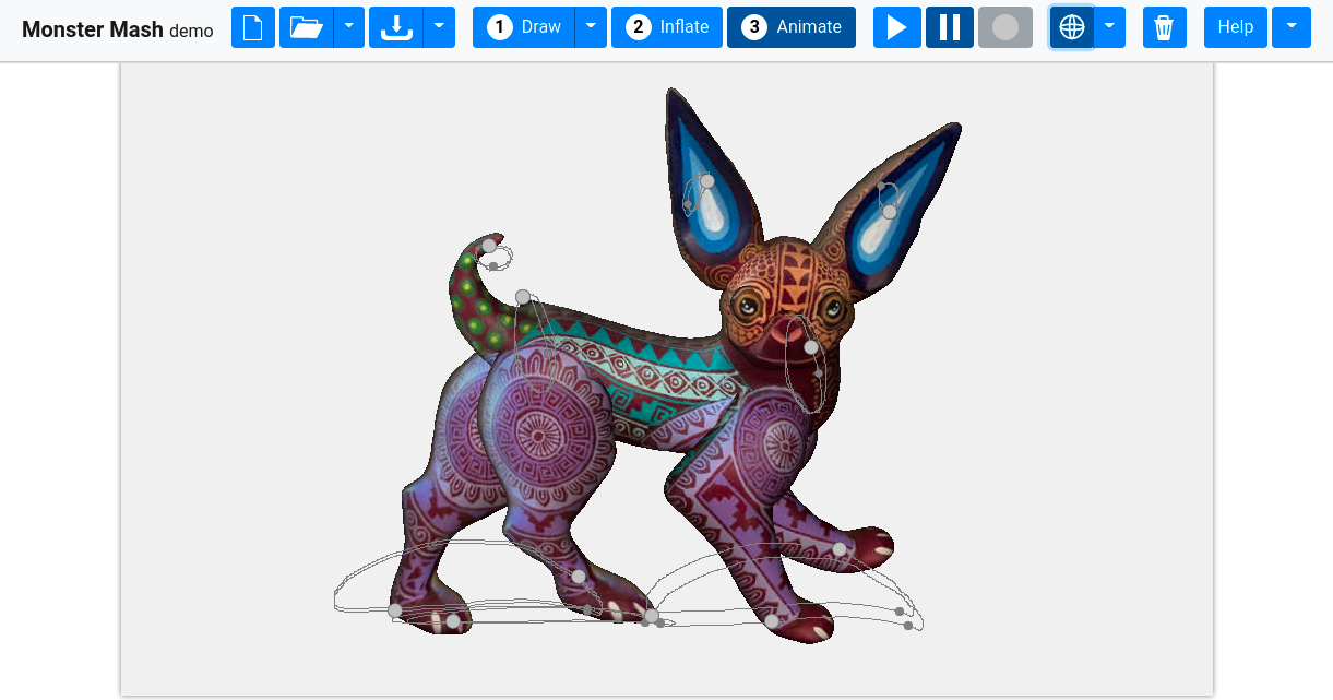 Monster Mash: New Sketch-Based Modeling and Animation Tool